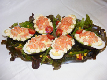 Avocat crevettes