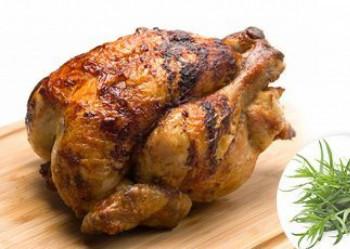 Poulet cuit moyen